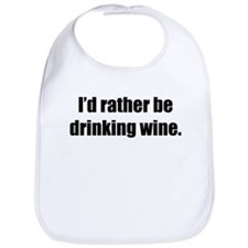 Rather be Drinking Wine Bib