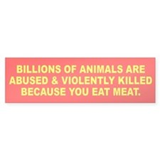 ANIMALS Bumper Bumper Sticker