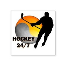"hockey24/7 Square Sticker 3"" x 3"""