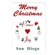SanDiego_5x7_Christmas St Postcards (Package of 8)