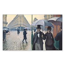 Rainy day in Paris Decal