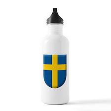 flag-of-sweden-kommunv Water Bottle