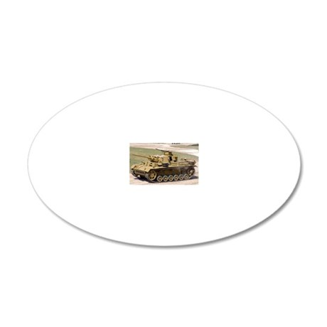 PANZER III 20x12 Oval Wall Decal