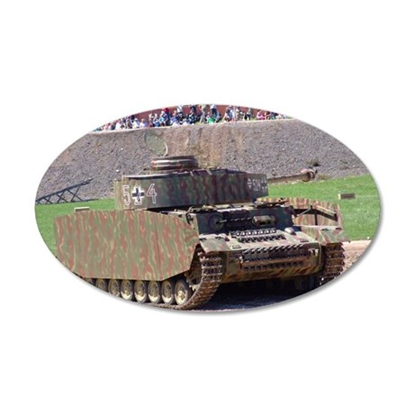 PANZER IV 35x21 Oval Wall Decal