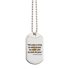 What We Give Dog Tags
