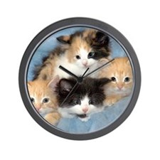 shelter-kittensDSC05383a Wall Clock