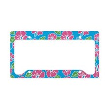 tropical_1_clutch License Plate Holder