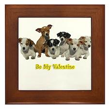 PUPPY 1160 Be My Valentine Framed Tile