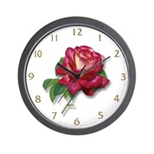 Single Rose Wall Clock