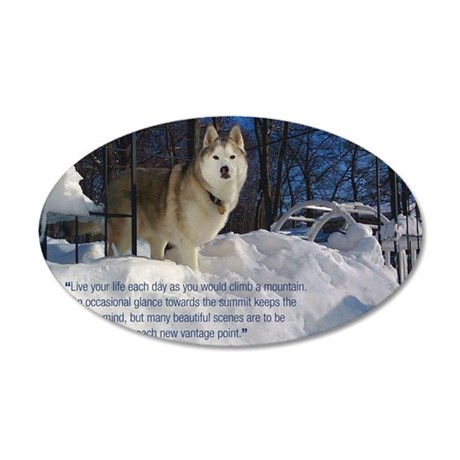 2012 Calendar Indy Snow 35x21 Oval Wall Decal