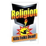 Religion: Kills Folks Dead! Postcards (Pack of 8)