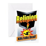 Religion: Kills Folks Dead Greeting Cards (10 Pk)
