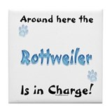 Rottweiler Charge Tile Coaster