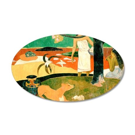 Gauguin 35x21 Oval Wall Decal