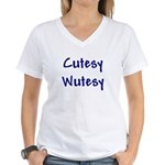 Cutesy Wutesy Women's V-Neck T-Shirt