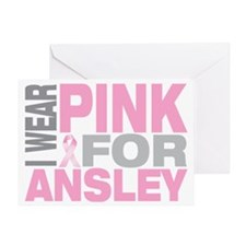 I-wear-pink-for-ANSLEY Greeting Card