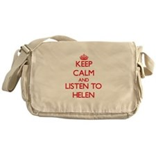 Keep Calm and listen to Helen Messenger Bag