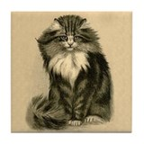 Beautiful Cat Art Tile