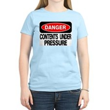 Contents Under Pressure Women's Pink T-Shirt