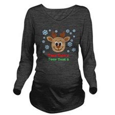 Personalize Cute Baby Reindeer Long Sleeve Materni