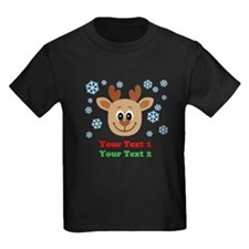 Personalize Cute Baby Reindeer T