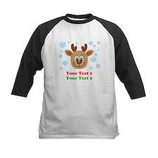 Personalize Cute Baby Reindeer Tee
