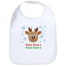 Personalize Cute Baby Reindeer Bib