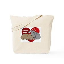 I love lop rabbits Tote Bag
