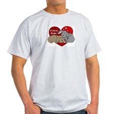 I love lop rabbits Ash Grey T-Shirt