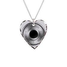 Combination-Lock Necklace Heart Charm