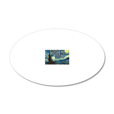 Evelyns 20x12 Oval Wall Decal
