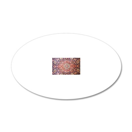 persian carpet 1 20x12 Oval Wall Decal