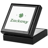 """Shamrock - Zackary"" Keepsake Box"