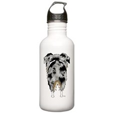 BlueMerleAussieShirtBa Water Bottle