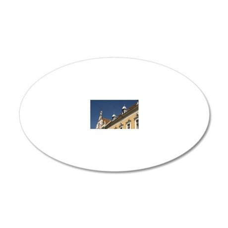 The court house of Brasov ci 20x12 Oval Wall Decal