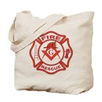 S&C Wearing the Fire Fighters Hat Tote Bag