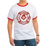 S&C Wearing the Fire Fighters Hat Ringer T
