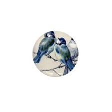 blue birds Mini Button