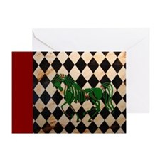 CelticHorseLongRed Greeting Card