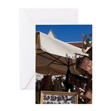 Market stall Greeting Card