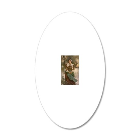 pilgrim2 20x12 Oval Wall Decal
