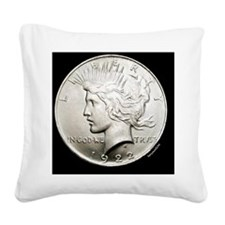 peace_dollar2 Square Canvas Pillow