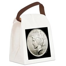 peace_dollar2 Canvas Lunch Bag