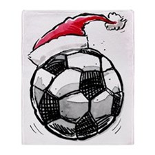 XmasSoccer Throw Blanket