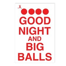 good-night-big-balls-red Postcards (Package of 8)