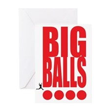 big-balls-black Greeting Card