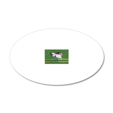 agility dog art1 20x12 Oval Wall Decal