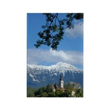Bled Castle and Julian AlpsBled I Rectangle Magnet