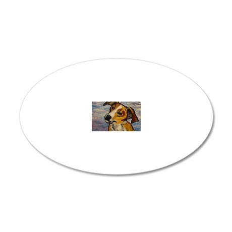 Daphne Dog 20x12 Oval Wall Decal