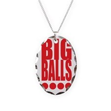 big-balls-white Necklace Oval Charm